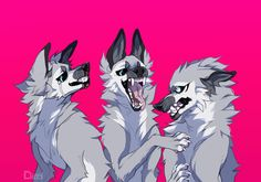 Creature Drawings, Animal Drawings, Cute Drawings, Wolf Drawings, Mythical Creatures Art, Fantasy Creatures, Furry Drawing, Anthro Furry, Anime Animals