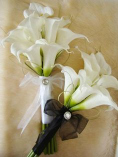 Calla Lily Bridal Bouquets | Touch White Calla Lily Arm Sheaf Bouquet | Artificial Wedding Bouquets ...
