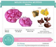 Categoría: Molde Silicona cake pop, tortas, muffins, chocolatero  Producto: molde silicona Muffins Modelo: Bichitos - mariposa, libelula, vaquita de san antonio - aveja Presentacion: 1 molde 8 cavidades Importado Importado