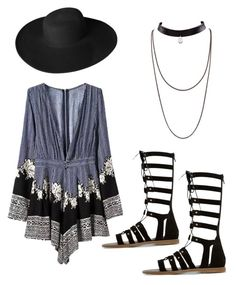 """Casual Romper on the Go"" by j-niblack ❤ liked on Polyvore featuring Dune and Dorfman Pacific"
