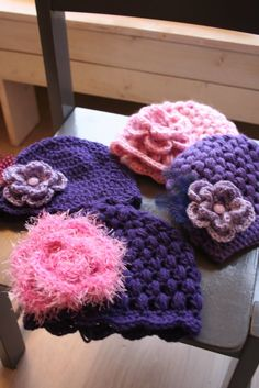 Bees and Appletrees (BLOG): HAKEN OP DONDERDAG- CROCHET ON THURSDAY ; meer mutjes, more hats!