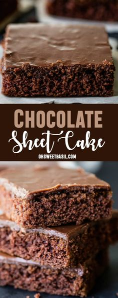 My mom's chocolate sheet cake is probably the classic chocolate sheet cake recipe you grew up with, but in case you lost it, here it is along with a cooked chocolate frosting!