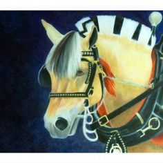 Fjord horse - 16x20 colored pencil