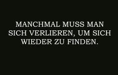 Manchmal.