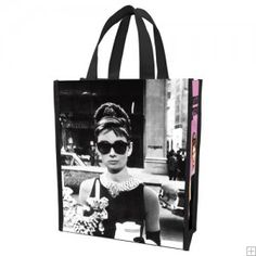Audrey Hepburn Recycled Shopper Tote