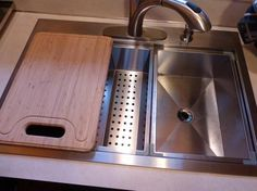 Glacier Bay All In One Dual Mount Stainless Steel 33x22x9 2 Hole Double  Bowl Kitchen Sink SM2034 At The Home Depot | Fritz Kitchen | Pinterest |  Double Bowl ...