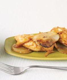 Orange-Glazed Chicken With Pears recipe