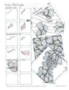 stepout for Meringue tangle pattern bu Kelley Kelly, Certified Zentangle Teacher
