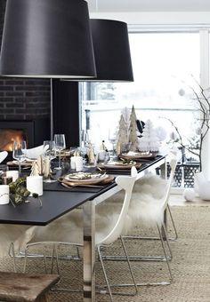 Une décoration scandinave et moderne pour la table de Noël
