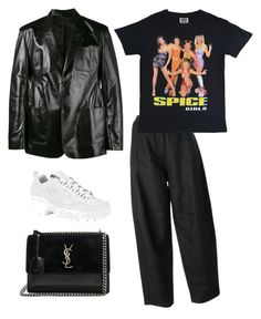 """""""Geen titel #36"""" by vintagem ❤ liked on Polyvore featuring Balenciaga, MM6 Maison Margiela, Fila and Yves Saint Laurent"""