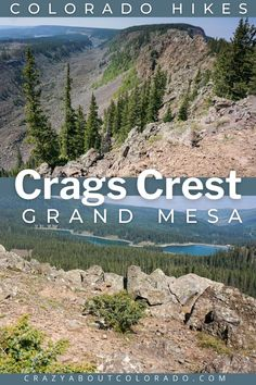 Crags Crest Trail on the Grand Mesadesignated a National Recreation Trail near Grand Junction, CO is like no other hike you will find in Colorado. Rocky paths, serene forests, and 360º views of western Colorado's valleys, lakes, and high peaks are incredible. One hike you won't forget! Just driving up and exploring the Grand Mesa, the largest flattop mountain in the world is enough but add this hike and you will see the best it has to offer. Canada Travel, Travel Usa, Snowboard, Travel Guides, Travel Tips, Family Adventure, Adventure Travel, Adventures Abroad, Amazing Destinations