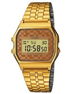 Retro Casio ur i guld - Casio Classic Casio Digital, Digital Watch, Casio Classic, Casio Vintage, Vintage Watches, Retro Vintage, Casio G Shock, Unisex, Atm