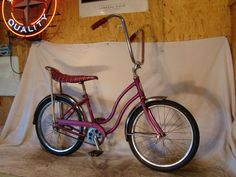 1967 Schwinn Stingray: banana seat and sissy bars....it was purple