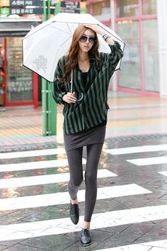 Korean style - striped shirt