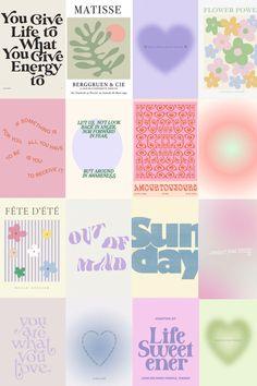 danish pastel aesthetic collage kit | danish pastel aesthetic prints and posters | wall collage kit
