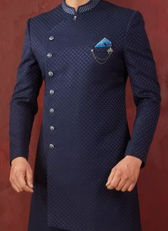 Sherwani - Huge collection of designer Sherwanis for men online. Buy the latest designer Sherwanis for wedding, engagement, and party with the best prices at Cbazaar. African Wear Styles For Men, African Shirts For Men, African Dresses Men, African Attire For Men, African Clothing For Men, Latest African Fashion Dresses, Nigerian Men Fashion, Indian Men Fashion, Big Men Fashion