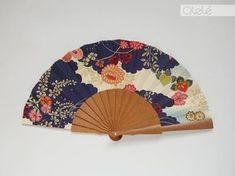 Japanese Clouds hand fan by Olele on Etsy