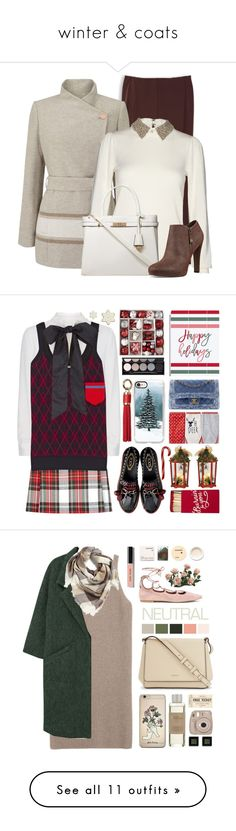 """""""winter & coats"""" by elva-torres ❤ liked on Polyvore featuring Jacques Vert, Alice + Olivia, Dorothy Perkins, Nine West, New Look, Valentino, Miu Miu, North Pole Trading Co., Casetify and Witchery"""