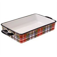 Camp Rectangular Casserole Dish – Holiday Plaid