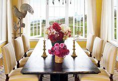 Oprah's Hawaiian dining room