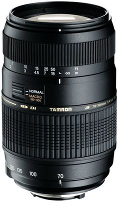Objectif Tamron 70-300mm f4-5.6 AF Di LD Macro 1/2 Canon pour Canon EOS 1100D