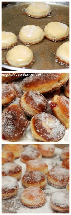 MOVE OVER DUNKIN DONUTS, WE'RE MAKING HOMEMADE JELLY DOUGHNUTS ROLLED IN SUGAR!