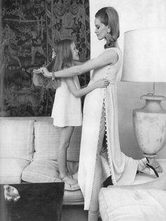 Vogue UK, February 1968 - Celia Hammond photographed by Helmut Newton.