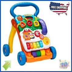 Learning Toys For Babies Walkers Pretend Kids Play Game Toddler First Step Sound #VTech
