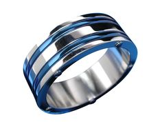 Stainless Steel 2 Blue Lines And Blue Dots Ring – Butterfly Jewellery Blue Lines, Blue Dots, Butterfly Jewelry, Body Jewellery, Stainless Steel Jewelry, Sterling Silver Jewelry, Rings For Men, Women Jewelry, Wedding Rings