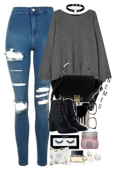"""""""Spencer Hastings Outfit (Season 7)"""" by nemes-margareta-anna ❤ liked on Polyvore featuring Topshop, The Row, Zimmermann, Linda Farrow, Inglot, Sephora Collection, Givenchy and Nika"""