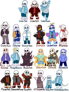 SO MANY SANS....wtf I can't handle it