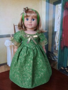 Holliday-Gown-Fits-American-Girl-Felicity-Or-Any-18-034-Doll-Doll-Not-Included