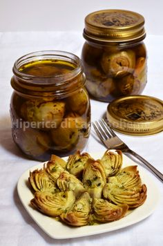 ITALIAN FOOD - CARCIOFINI SOTT'OLIO (Artichokes preserved in olive oil)