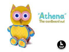 """Athena"" the amazing cardboard owl toy by Carton Llama!"