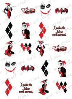 20-nail-transfer-decals-dc-comics-harley-quinn-batman-water-pertaining-to-harley-quinn-tattoo-for-tattoo-art.jpg (745×1024)