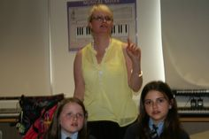 Here is a photo of the Director of WiP Ruth Richardson working along side the young people
