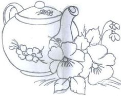 teapot and flowers #coffeenadtea
