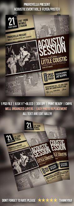 Acoustic Event Flyer / Poster Template