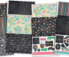 Free printables! Chalkboard Thank Yous from Papercraft inspirations issue 134