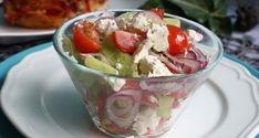 Görög saláta Fruit Salad, Feta, Acai Bowl, Panna Cotta, Pudding, Breakfast, Ethnic Recipes, Desserts, Acai Berry Bowl