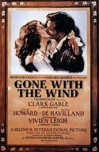 """A DAY in MOVIE HISTORY - Dec """"Gone With the Wind"""", drama film directed by Victor Fleming and starring Clark Gable and Vivien Leigh, premiered in Atlanta (Best Picture inflation not adjusted highest-grossing film of all time). Movie Posters For Sale, Cinema Posters, Retro Posters, David O Selznick, Wind Movie, Victor Fleming, Leslie Howard, Rhett Butler, Margaret Mitchell"""