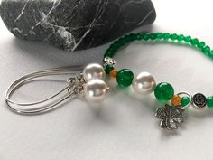 New! Jade & pearl jewelry to layer. https://www.etsy.com/shop/JoyfulByNature?section_id=18387616&ref=shopsection_leftnav_3 #etsymntt #green #shamrock