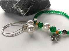 New! Jade & pearl jewelry to layer. https://www.etsy.com/shop/JoyfulByNature?section_id=18387616&ref=shopsection_leftnav_3 #etsymntt #green #shamrock