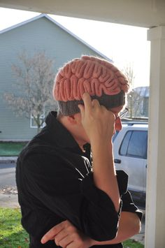 "Custom Order Knit Brain Hat by AdriannaKnits on Etsy, $35.00   Anyone can correct an error...  ""If I only had a brain..."""