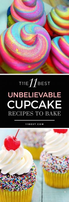 11 Best Cupcake Recipes The 11 best cupcake recipes! Please also visit for colorful, inspirational art and stories.The 11 best cupcake recipes! Please also visit for colorful, inspirational art and stories. Just Desserts, Delicious Desserts, Dessert Recipes, Jello Recipes, Kid Recipes, Whole30 Recipes, Vegetarian Recipes, Cooking Recipes, Healthy Recipes