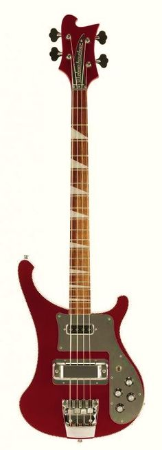 2014 Rickenbacker 4003 Ruby CB Mirror Bass Guitar