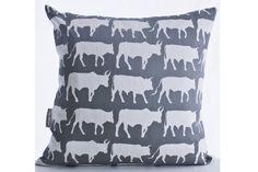 Transkei Cows Cushion Slip – Grey & White from Design Kist Cushions - (Save