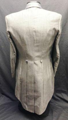 37 L Mens Vintage Silver Gray Tuxedo Tailcoat Tux Tails Retro Steampunk Dickens | eBay