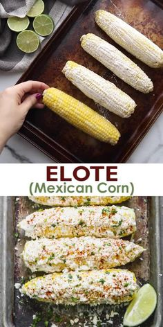Corn Recipes, Side Dish Recipes, Vegetable Recipes, Mexican Food Recipes, Side Dishes, Vegetarian Recipes, Cooking Recipes, Healthy Recipes, Mexican Desserts