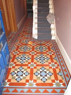 We specialise in Victorian Hallway Tiles and we offer an expert services in sorcing and laying traditional Victorian floor tiles hallway Victorian Tiles Bathroom, Victorian Mosaic Tile, Bathroom Floor Tiles, Tile Floor, Tiled Hallway, Hallway Flooring, Narrow Hallway Decorating, Hallway Designs, Hallway Ideas
